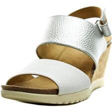 Sandalias y chanclas de mujer de tacón medio (2,5-7,5 cm) de color principal plata talla 40