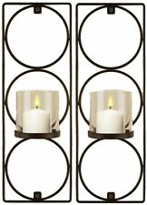 Set Of 2 Metal Wall Sconces Sarah Peyton Hanging Candle Holders Modern Lighting