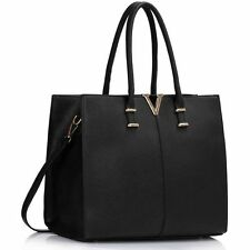 Women's Large V Tote Handbags Shoulder Bag For Women Work School Work College A4