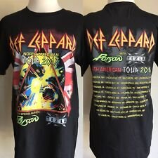 DEF LEPPARD (2017) North American Concert Tour Dates POISON TESLA T-Shirt Small
