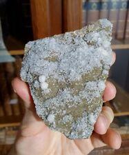 Baryte & calcite sur sidérite, Carrière du Rivet, Peyrebrune, Tarn (81), France