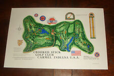 Vintage CROOKED STICK GOLF COURSE PRINT - Carmel, Indiana - BRAND NEW UNUSED