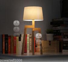 European Vintage Style Cloth+Wood Diameter 32cm Height 70cm Creative Table Lamp