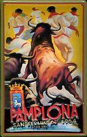 Pamplona 1954 Blechschild Schild 3D geprägt gewölbt Metal Tin Sign 20 x 30 cm