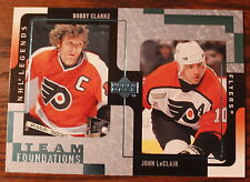 Bobby Clarke & John LeClair Team Foundations Upper Deck #101 2000 NHL Legends