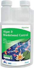 NT Labs AquaClear 250ml Pond Algae & Blanketweed Killer  Garden Aqua Clear