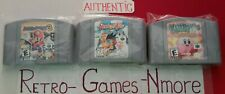 Nintendo 64 Games lot Mario Party 3, SNOWBOARD KIDS  & KIRBY AUTHENTIC N64 Carts