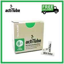 actiTube EXTRA SLIM 50 Charcoal Filters, Rolling Filter Tips Joint Tobacco Tubes