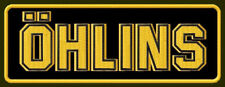 "ÖHLINS EMBROIDERED PATCH ~5-1/4""x 2"" GAS SHOCKS RACING SUSPENSION AUFNÄHER BRODE"