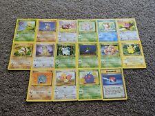 Pokemon Base Jungle Set 1998 Common TCG Cards 49-64 ALL NEAR MINT Missing Mankey