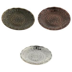 3pcs Tea Cup Mug Mat Saucer Alloy Coaster Lotus Leaf Design Cups Coaster Saucer