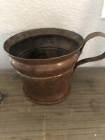 "Antique Hand made Hammered  New York Copper Pitcher  5.25""tall"
