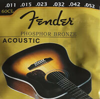 Jeu de cordes FENDER 60CL 11/52 phosphore bronze 0730060003 guitare acoustique