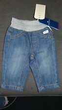 Tom Tailor 100%Cotton Denim Elasticated Waist Jeans 0-3m 62cm Blue Mix  BNWT