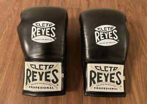Cleto Reyes Black Leather 10 Oz Boxing Safetec Glove