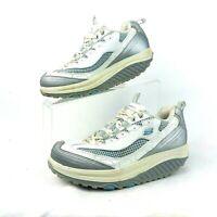 Skechers Shape-ups Gray White Blue Sneakers Walking Shoes 11803 - Size US 7