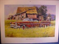 1958 Chevy IMPALA abandoned junkyard barn-find Dale Klee artwork w/backer board