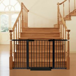 Baby Kids Pet Safety Security Gate Stair Barrier Doors Extension Panels 45cm
