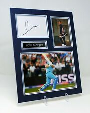 Eoin MORGAN Signed Mounted Photo Display AFTAL England & Middlesex Cricketer