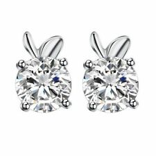 Apfel Ohrstecker 925 Sterling Silber Appel Kinder Strass Damen Ohrringe 5mm