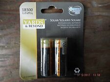 Yards and Beyond Solar 1000mAh Lithium Phosphate Rechargable Batteries