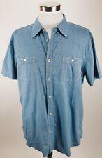 Lee Mens Vtg Button Up Blue Shirt XXL