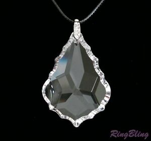 CRYSTAL NECKLACE! FULL LEAD AUSTRIAN LARGE CRYSTAL PENDANT CHAIN! 50% OFF!