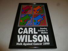 Framed Carl Wilson Walk Against Cancer 1999 Concert Poster Malibu Beach Boys >>