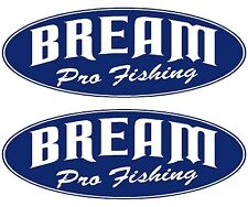 "2x BREAM BOAT NAMES - ""BREAM Pro Fishing"" Decal Sticker Graphics Kit"