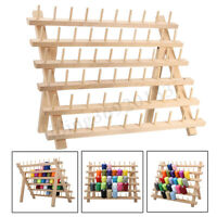 60-Spool Premium Thread Rack Stand Holder Organizer Beechwood Sewing Embroidery