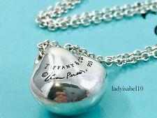 "Tiffany & Co Sterling Silver Peretti 16"" Nugget Bean Pendant  Necklace Gift 2142"