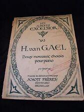 Partition Douze morceaux choisis pour piano H Van Gael