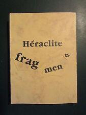 Heraclite fragments - youl - EO numérotée & signée (1989)