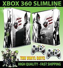 Xbox 360 Slim Aufkleber Catwoman Gotham Mädchen Batman Hülle & 2 Controller