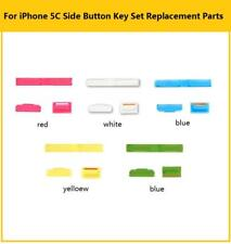 Side Switch Power Volume Mute Button Keypad Replacement Colors Kit For iPhone 5C