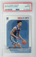2019-20 Panini NBA Hoops Brandon Clarke Rookie RC #217, Graded PSA 10
