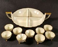 Antique Noritake Nippon 10 piece nut set. One tray with 9 bowls Ready to ship