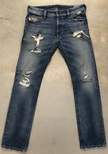 Diesel Thavar Denin Stretch Jeans Distressed Trashed Men Size 28 x 30