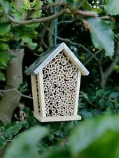 Insect Bee House Bug Wooden Hotel Natural Wood Shelter Garden Nesting Box