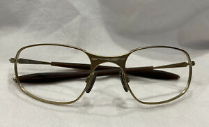 Genuine Oakley NOS Big Square Wire Matte Gold Sunglasses Frames