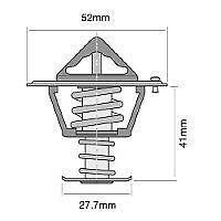 TRIDON Std Thermostat For Mazda MX6 GE10, GE20 11/91-09/97 2.5L KL