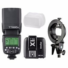 Godox TT685S HSS TTL GN60 Sony Flash + X1T-S Transmitter + Bowens Mount Bracket