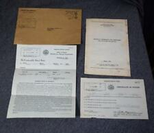 1944 Selective Service System Booklet & 1945 Certificate of Fitness w/Envelope