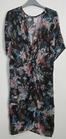New Marks & Spencer Floral Printed Knot Front Kaftan Beach Dress - Size S - XL
