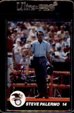 6cfcc8c6097bf Steve Palermo Umpire 1989 T M Sports Autographed Signed Baseball Card  DECEASED
