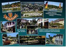 Postkarte Trier Fotokunst Schwalbe: M21 Zurlauben: Laubenlokale und Hafen