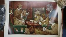 "CM COOLIDGE REPRINT DOGS PLAYING POKER -""HIS STATION AND FOUR ACES"" UNFRAMED"