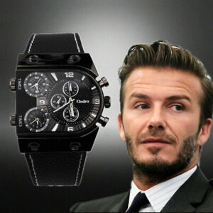 OULM Men's Watches Wristwatch Classic Sports Multi-Time Zone Military Male Watch