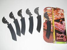 Set Lot de 6 Couteaux à Pizza PRADEL Individuels acier inox lave vaisselle NEUF