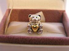 Oso De Peluche Plata De Ley S925 y pulsera de oro, opción de caja